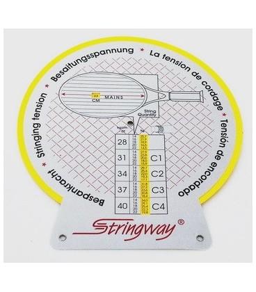 """Stringway Tension Advisor - """"Stringway Tension Advisor"""" beregner spændingen for """"main""""- og """"cross""""-strenge i 4 forskellige stivhedsklasser.Den indberegner spillestil, antal strenge og dimensionerne af opstrengningsområdet. Ved hjælp af dette værktøj kan man give professionel rådgivn"""